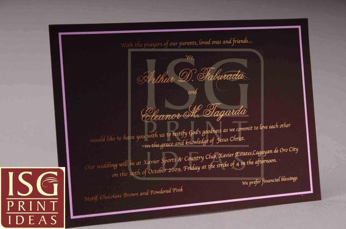 Wedding Formal Invitation by ISG Print Ideas - 002