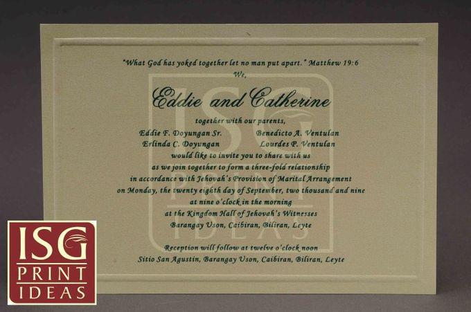 Wedding Formal Invitation by ISG Print Ideas - 004