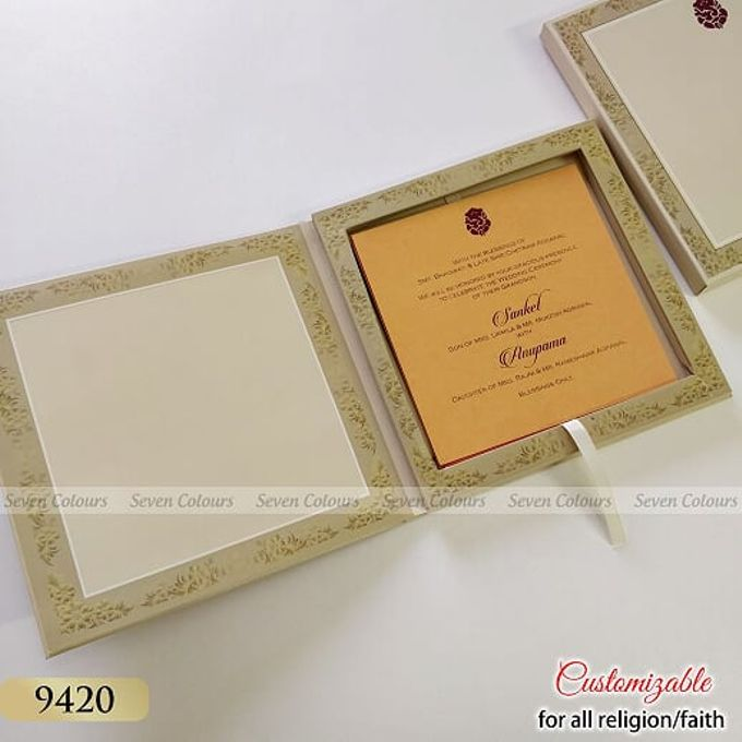 Designer wedding invitations collection by SEVEN COLOURS CARD - 015