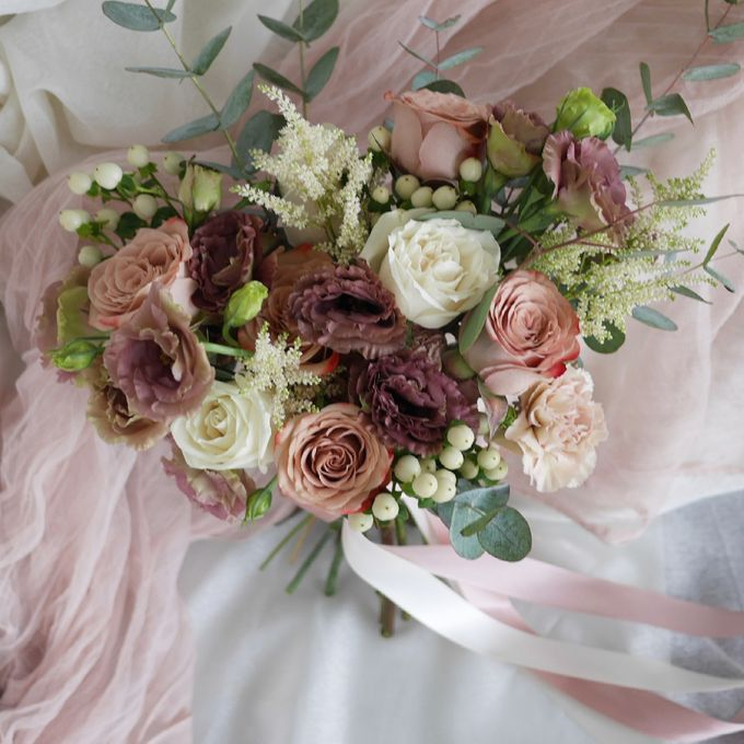 Rustic Bridal Hand Bouquet by The Bliss Assembly - 001