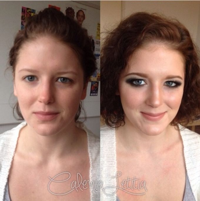 Before - After Makeup by Calenia Letitia Makeup Artist - 002