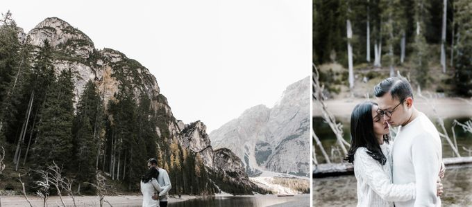Lago di Braies Pre Wedding Couple Shoot - the most beautiful lake of Dolomites in Italy. by Fotomagoria - 042