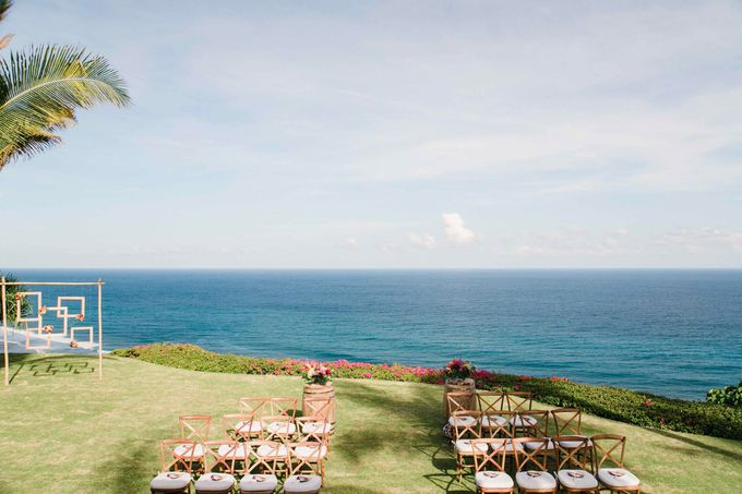 J&M Rustic Glam Cliff Top Wedding by THE UNGASAN CLIFFTOP RESORT BALI  - 010