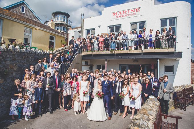 Clare and Ben's Marine Theatre wedding, Lyme Regis by Andrew George Photography - 032