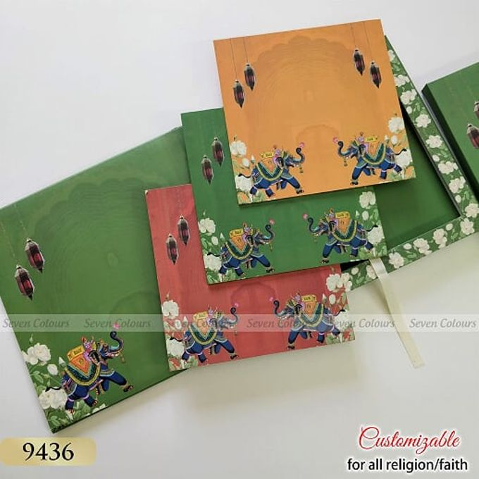 Designer wedding invitations collection by SEVEN COLOURS CARD - 016