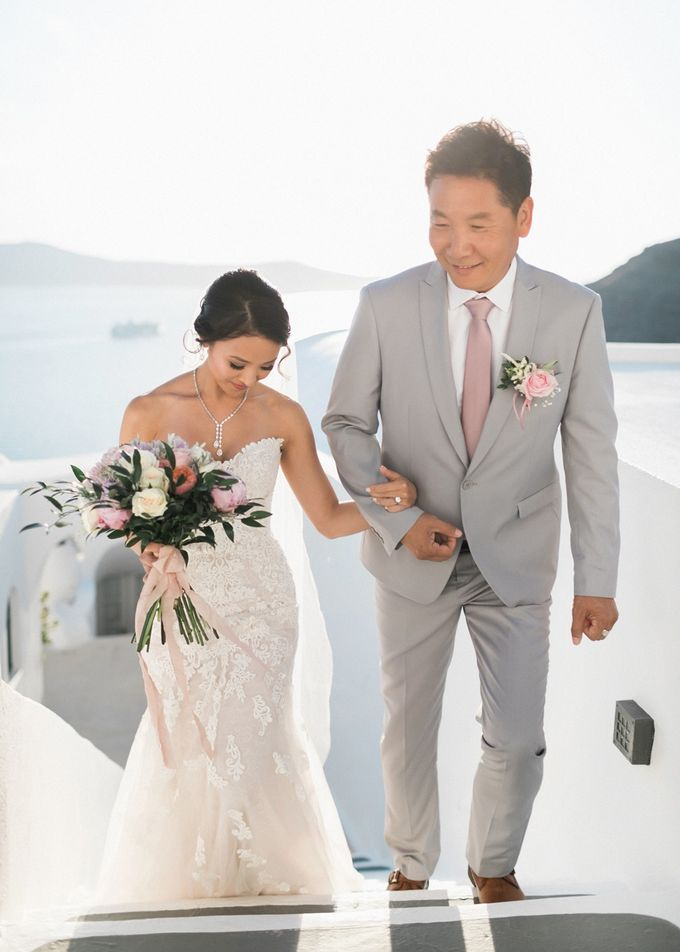 Dusty Pink Dream Wedding in Santorini by Stella & Moscha Weddings - 021