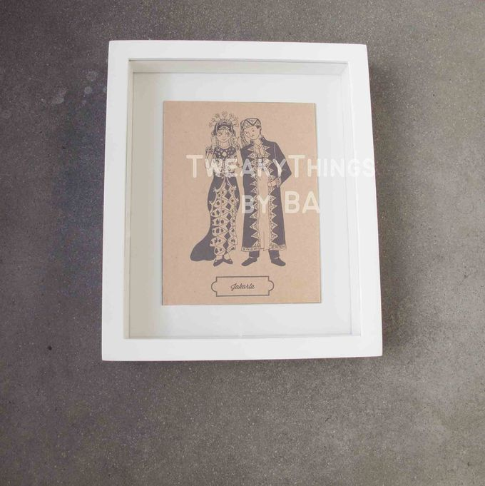 """The Bride and Groom"" Series - 1st edition, printed and framed by TweakyThings - 003"