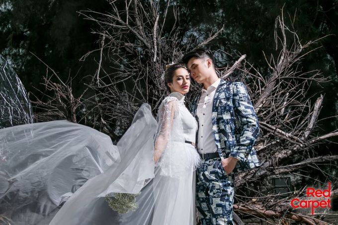 Outdoor Pre Wedding Photo Shoot by RedCarpet Bridal Artistry - 002