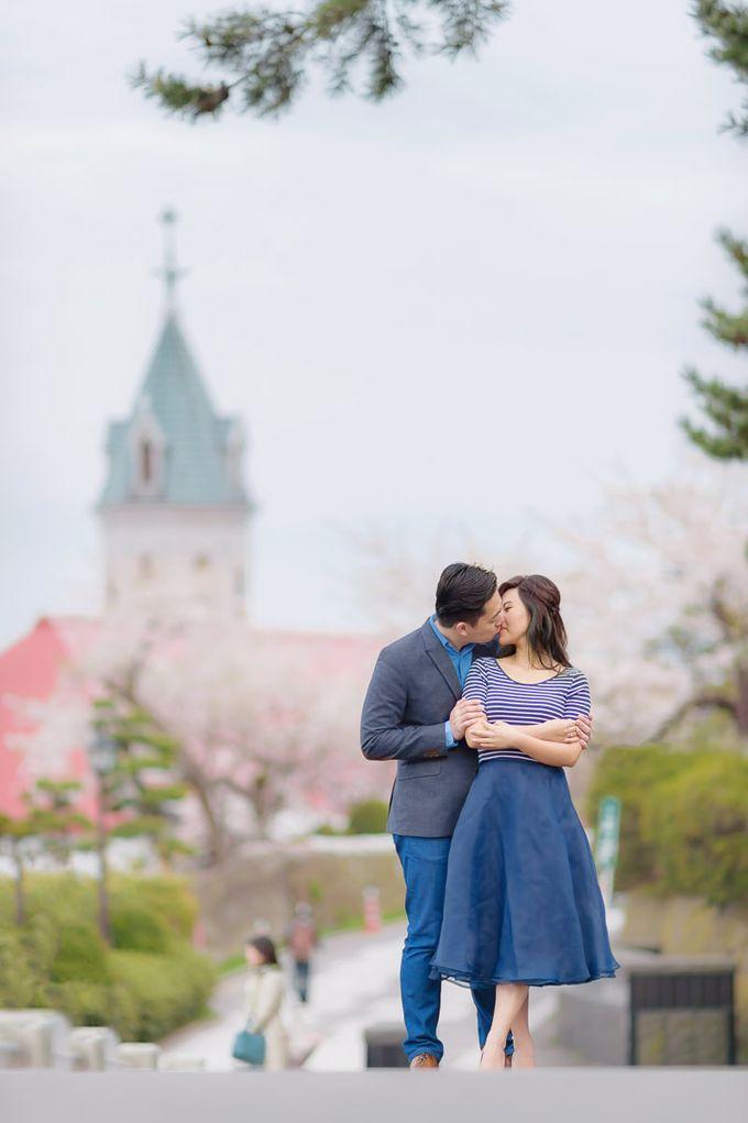Full Bloom Hokkaido Sakura in Spring-Prewedding Overseas by John15 Photography - 031