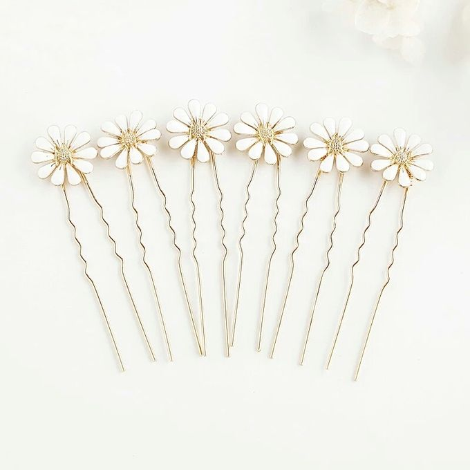 Daisy Wedding Hair Pin 6pcs/set by Fairytale Undercover - 001