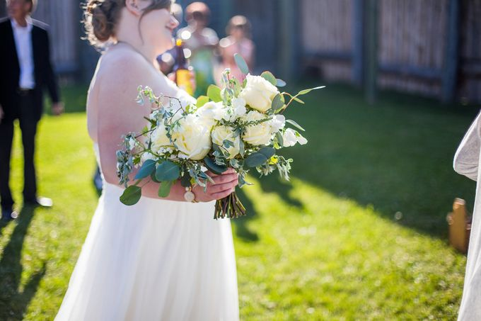 Rustic White and Green Wedding by Stone House Creative - 006