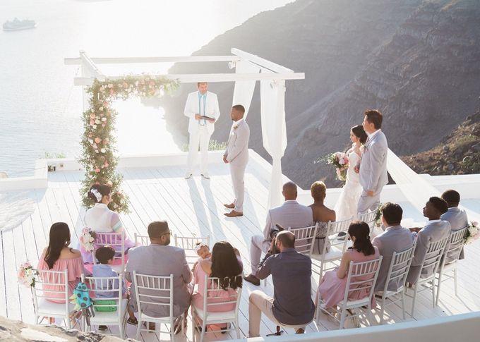 Dusty Pink Dream Wedding in Santorini by Stella & Moscha Weddings - 020