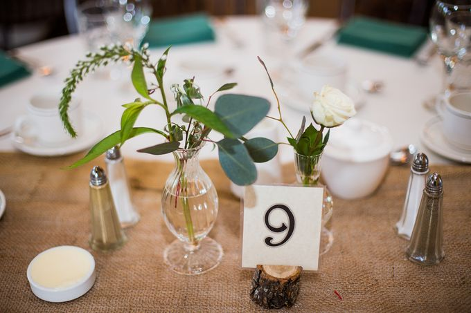 Rustic White and Green Wedding by Stone House Creative - 005