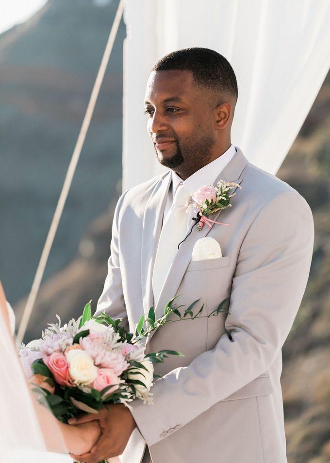 Dusty Pink Dream Wedding in Santorini by Stella & Moscha Weddings - 023