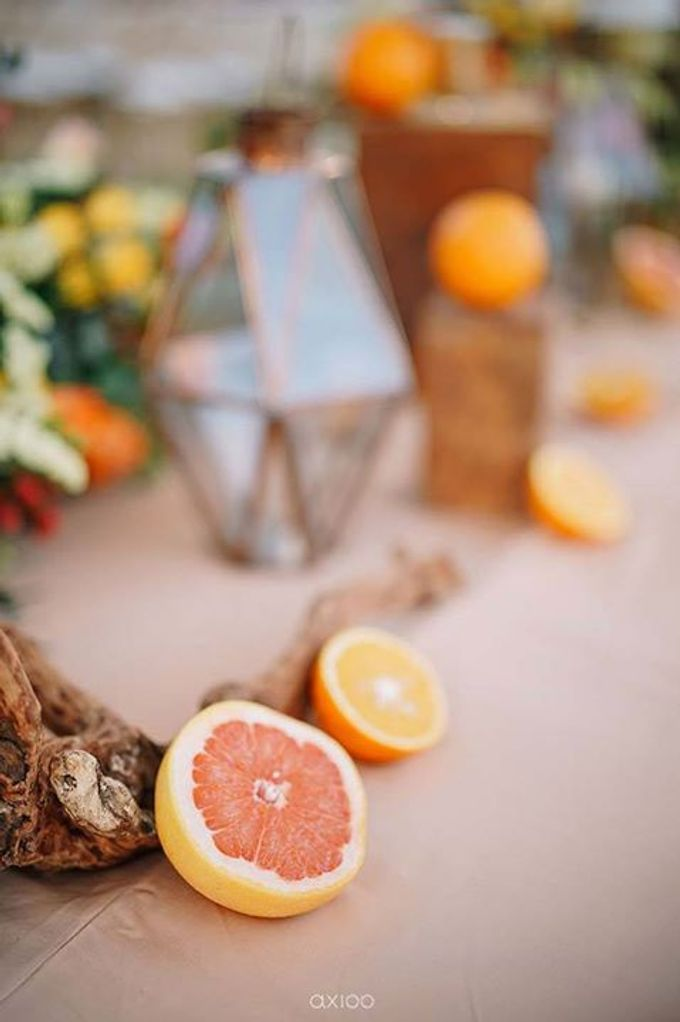 Khayangan Estate - Citrus Inspired Reception by Flora Botanica Designs - 027