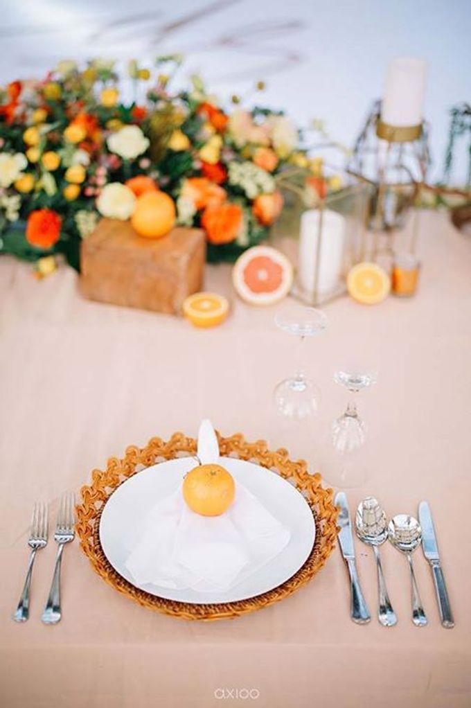Khayangan Estate - Citrus Inspired Reception by Flora Botanica Designs - 029