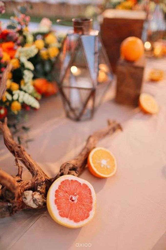 Khayangan Estate - Citrus Inspired Reception by Flora Botanica Designs - 045