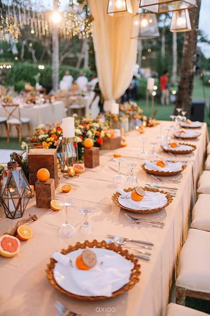 Khayangan Estate - Citrus Inspired Reception by Flora Botanica Designs - 044