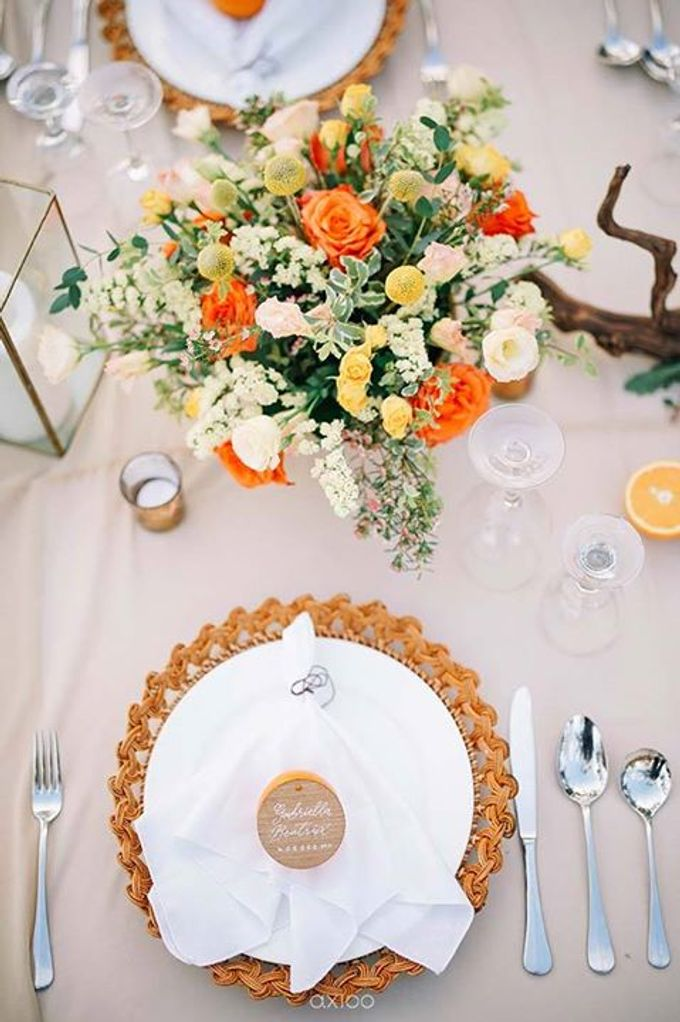 Khayangan Estate - Citrus Inspired Reception by Flora Botanica Designs - 024