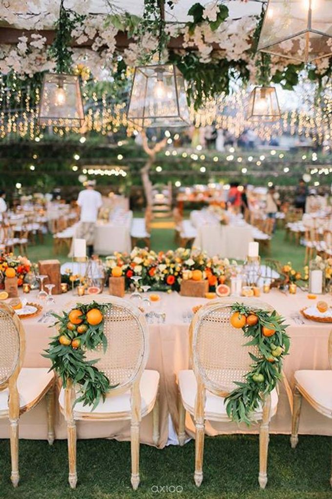 Khayangan Estate - Citrus Inspired Reception by Flora Botanica Designs - 043