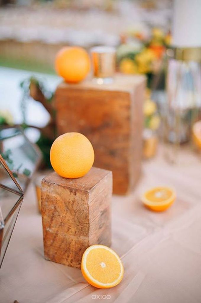 Khayangan Estate - Citrus Inspired Reception by Flora Botanica Designs - 028