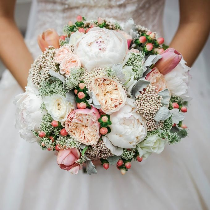 Blushing Bridal Bouquet by Flourish by Charlene - 007
