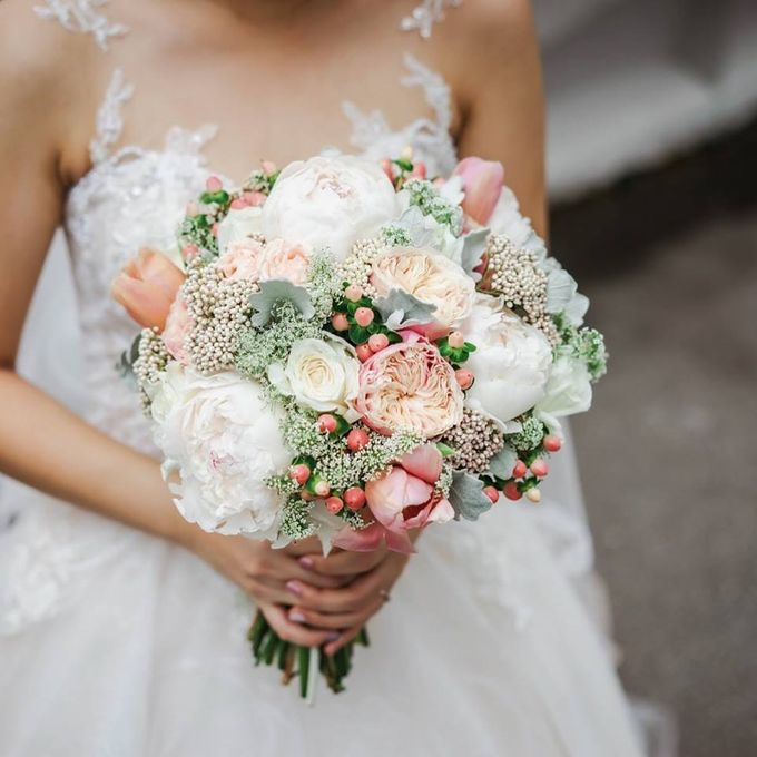 Blushing Bridal Bouquet by Flourish by Charlene - 009