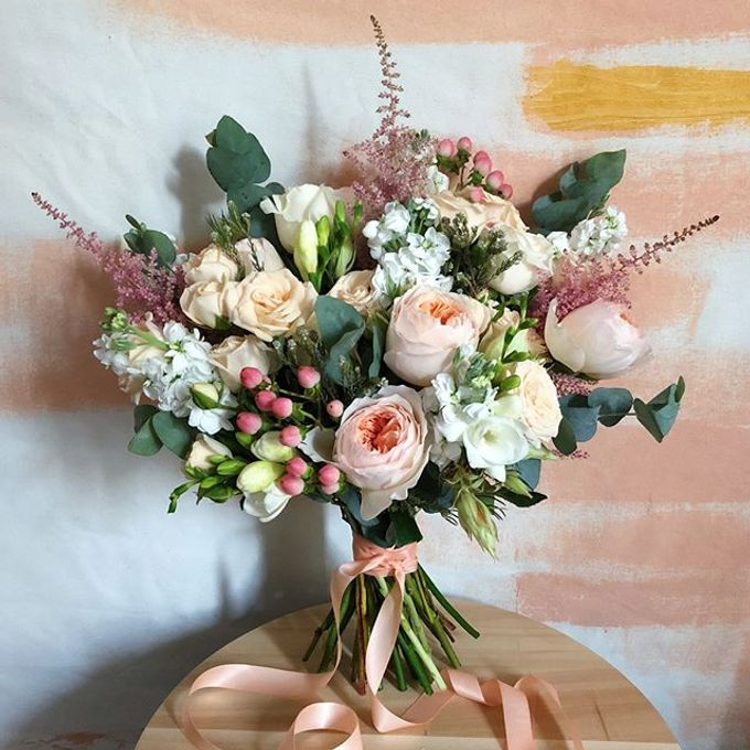 Blushing Bridal Bouquet by Flourish by Charlene - 008