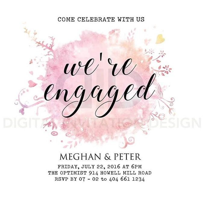 Engagement Static And Video Invitation By Digital Design
