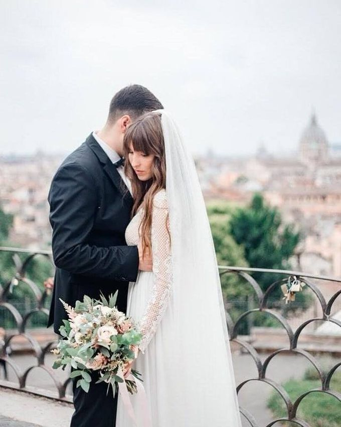 Wedding in Rome by Ruslana Regi makeup artist in Italy - 002