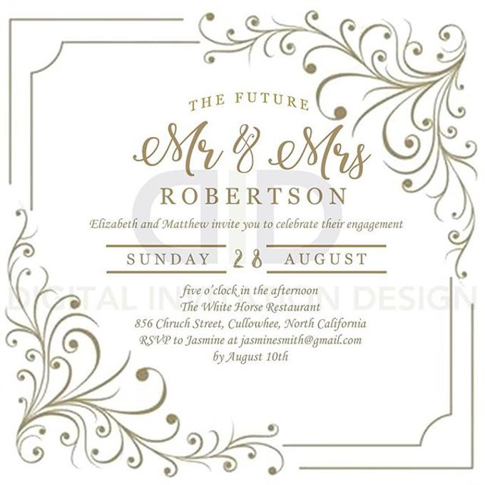 Engagement Static Invitation By Digital Design