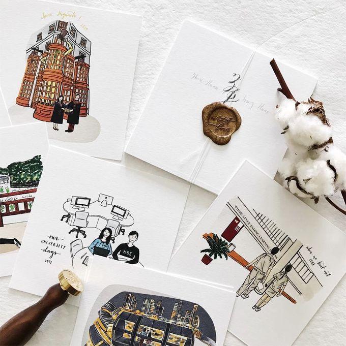 Love Story Illustrations | Zhen Huan & Jing Huai by dora prints and paper goods - 003