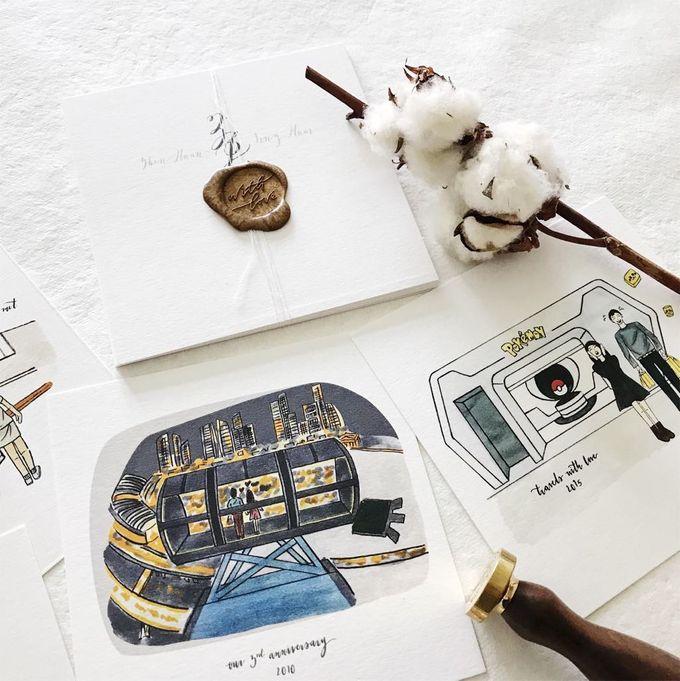 Love Story Illustrations | Zhen Huan & Jing Huai by dora prints and paper goods - 004
