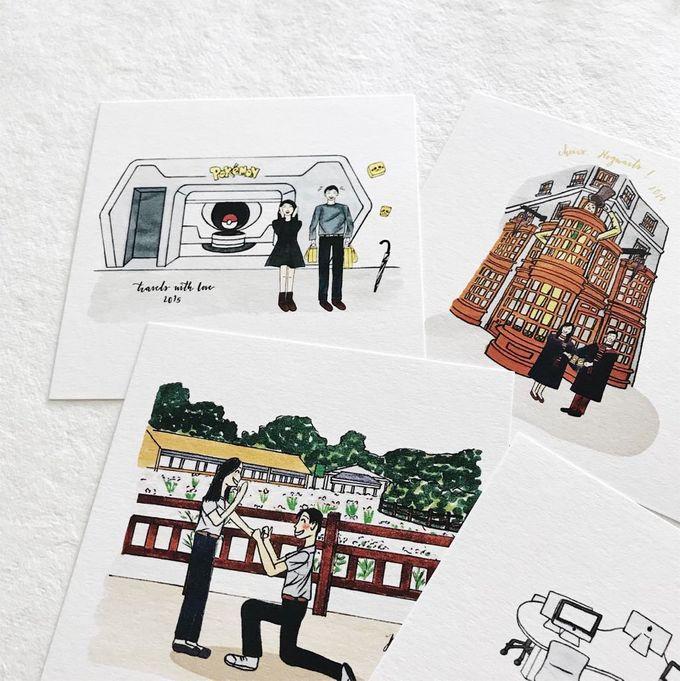 Love Story Illustrations | Zhen Huan & Jing Huai by dora prints and paper goods - 005