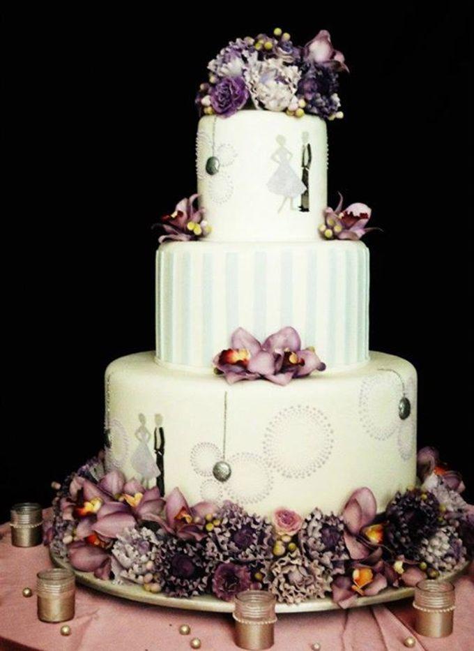 3 layers wedding cakes by LeNovelle Cake - 008