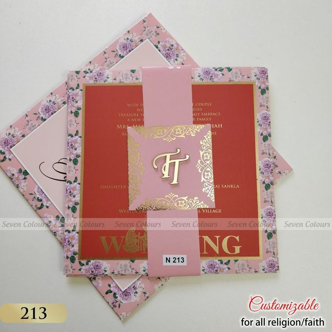 Designer wedding invitations collection by SEVEN COLOURS CARD - 017