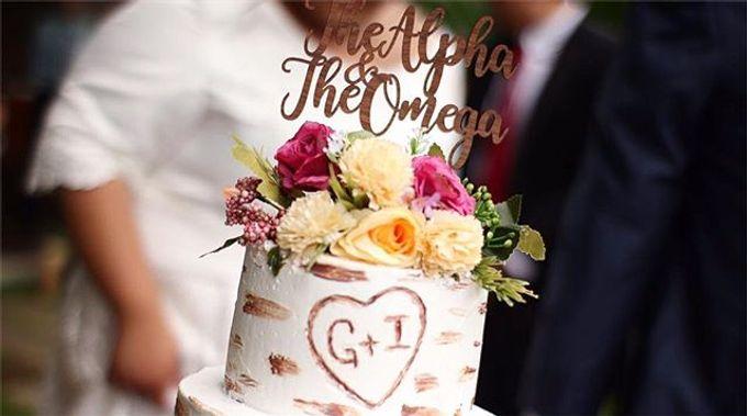 Birch Wood Wedding Cake by YUCA Creations - 002