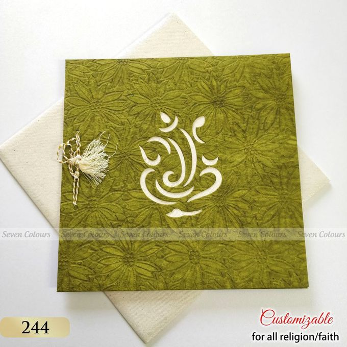 Designer wedding invitations collection by SEVEN COLOURS CARD - 018