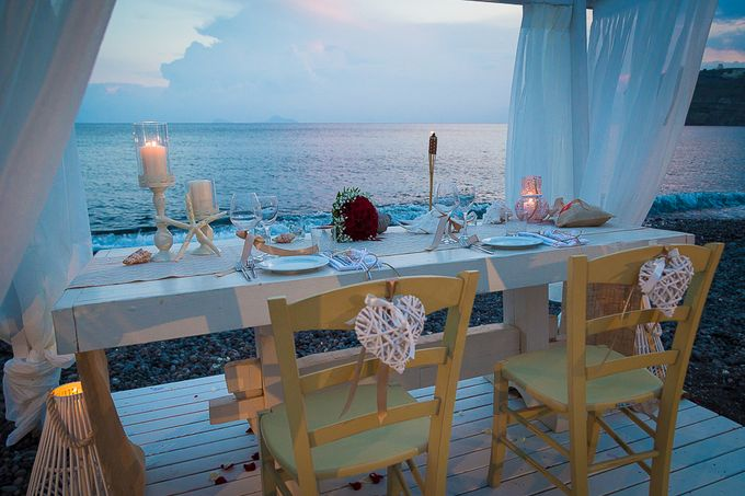 Beach wedding in Santorini by Red Knot Weddings & Events - 039