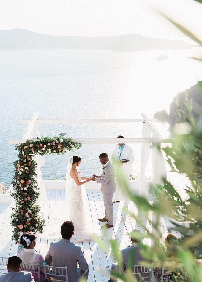 Dusty Pink Dream Wedding in Santorini by Stella & Moscha Weddings - 024
