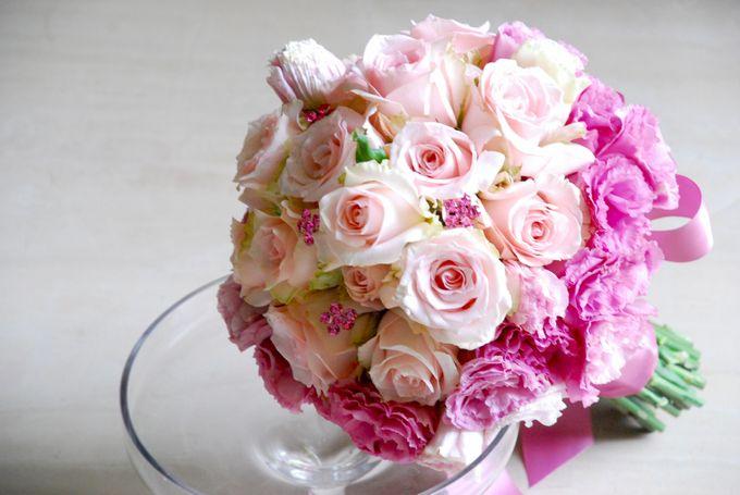 PINK theme -Wedding Bouquet by Hana Flower Boutique by Hana Flower Boutique - 001