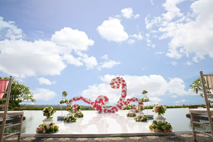 our chapel and water wedding decor by Jc Florist Bali - 007