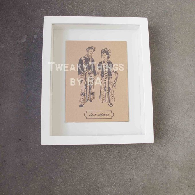 """The Bride and Groom"" Series - 1st edition, printed and framed by TweakyThings - 006"