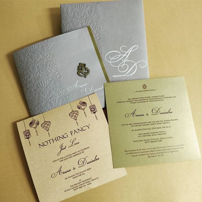 Designer wedding invitations collection by SEVEN COLOURS CARD - 002