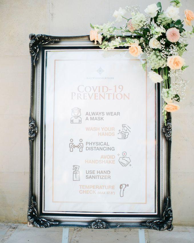 Elegant Vintage Coral Peach Palette for Willy and Luphyta Wedding at Plenilunio Villa Uluwatu by Bali Wedding Atelier - 003