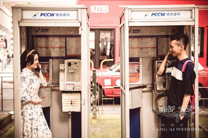Bustling Street of Hong Kong by Cang Ai Wedding - 021
