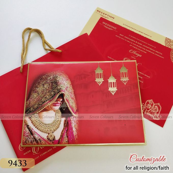 Designer wedding invitations collection by SEVEN COLOURS CARD - 019