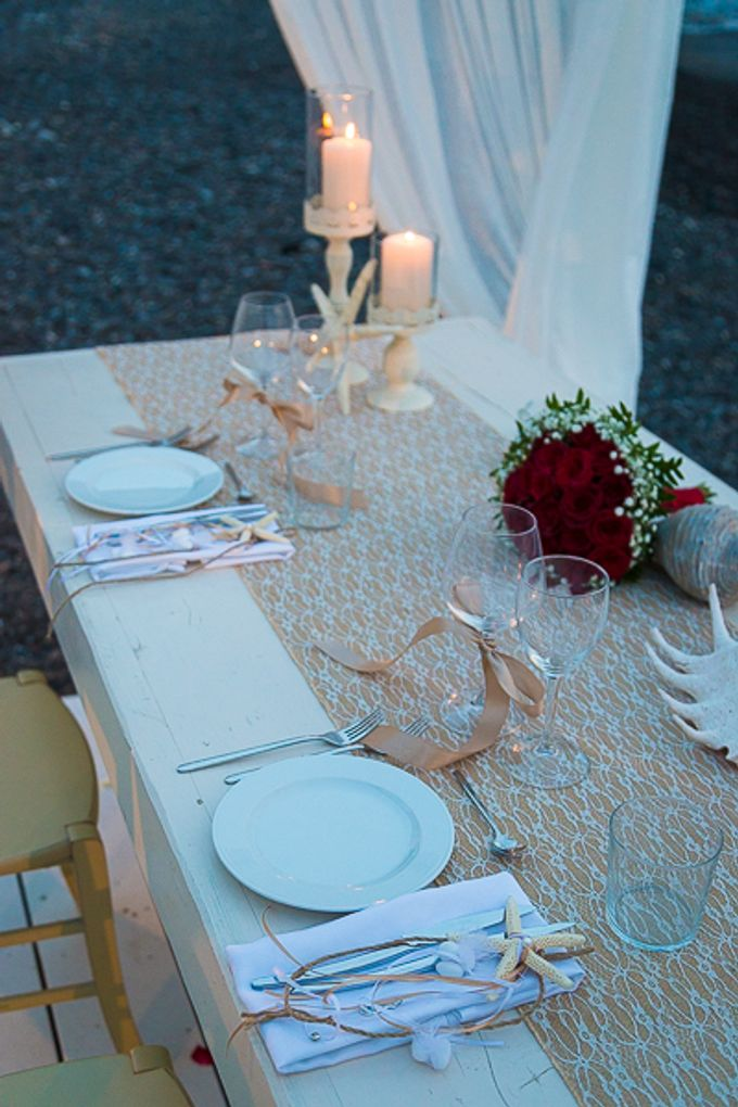 Beach wedding in Santorini by Red Knot Weddings & Events - 040