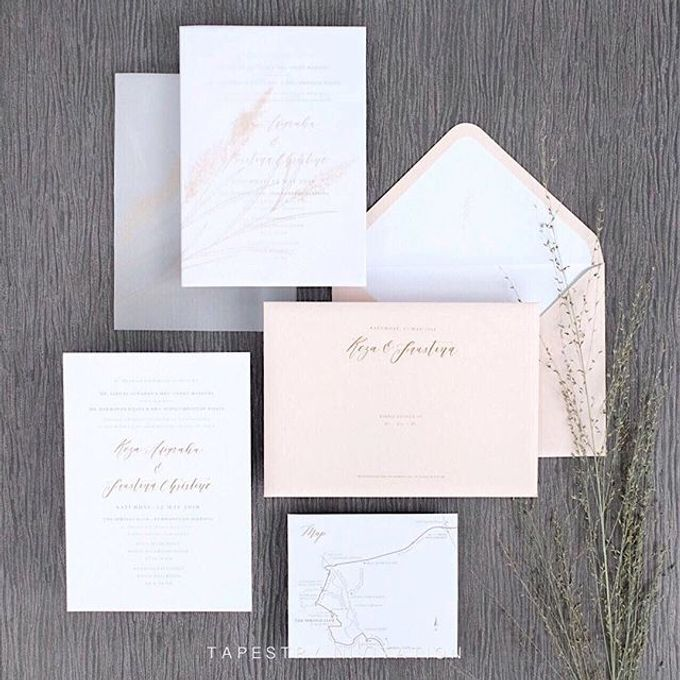 Such a lovely illustration of the pampas grass by Tapestry Invitation - 002