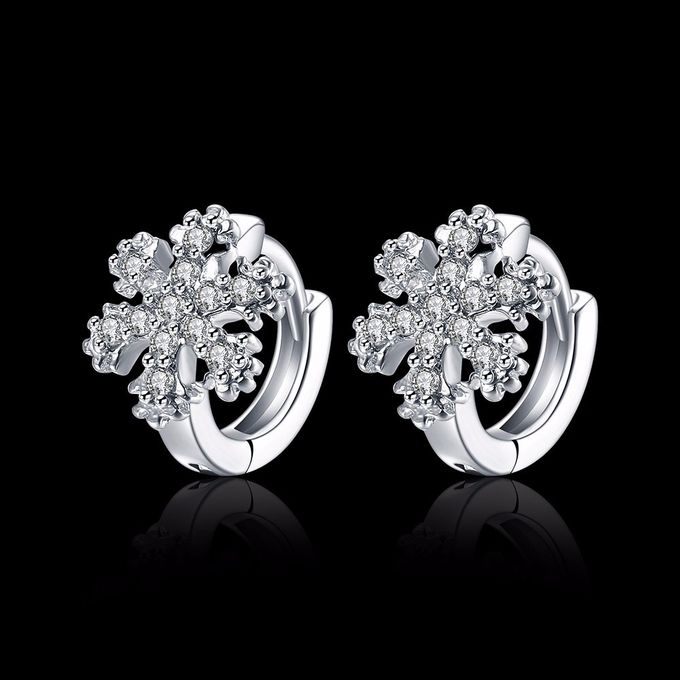 TIARIA Diamond Snowflake Gold Earring Perhiasan Anting Emas Berlian by TIARIA - 003
